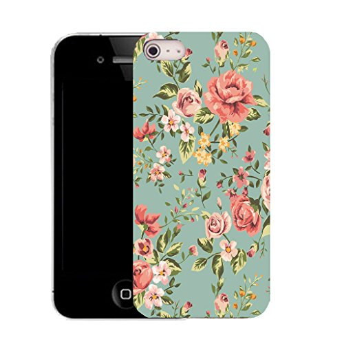 Mobile Case Mate IPhone 5S clip on Silicone Coque couverture case cover Pare-chocs + STYLET - elegant floral pattern (SILICON)