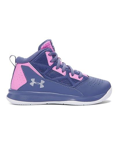 3cc9f184e03 Amazon.com  Under Armour Kids Girl s UA GPS Jet Mid (Little Kid) Aurora  Purple Verve Violet Metallic Silver Sneaker 11 Little Kid M  Shoes