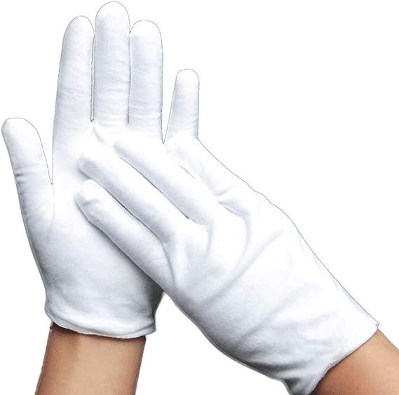 Guantes de trabajo 24 pares Thicken Pure White Jobs Guantes ...