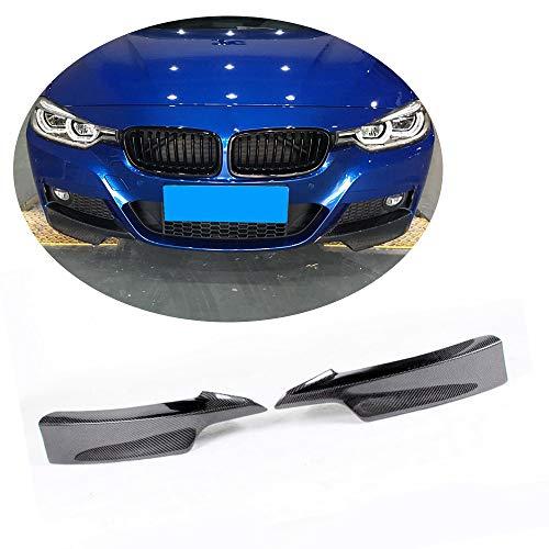(MCARCAR KIT Front Splitter fits BMW 3 Series F30 M Sport Sedan 2012-2018 Customized 320i 325i 328i 335i M-Packet Car Carbon Fiber Moulding Upper Spoiler Vents Cover Flaps)