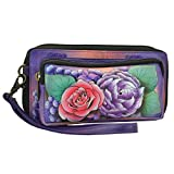 Anuschka Handpainted Leather Women's Rfid Blocking Zip Around Wallet