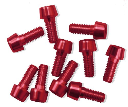 Bolts Alu7075T6 M5x20. Red anodised (10units) MSC Bikes