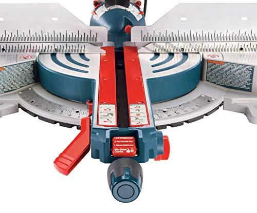 Bosch Power Tools – Sierra de inglete deslizante con doble bisel, cable de 12 pulgadas y hoja de sierra con 60 dientes, 15 amperios, GCM12SD