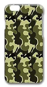 IMARTCASE iPhone 6 Case, Army Camo iPhone 6 Plus Case TPU White