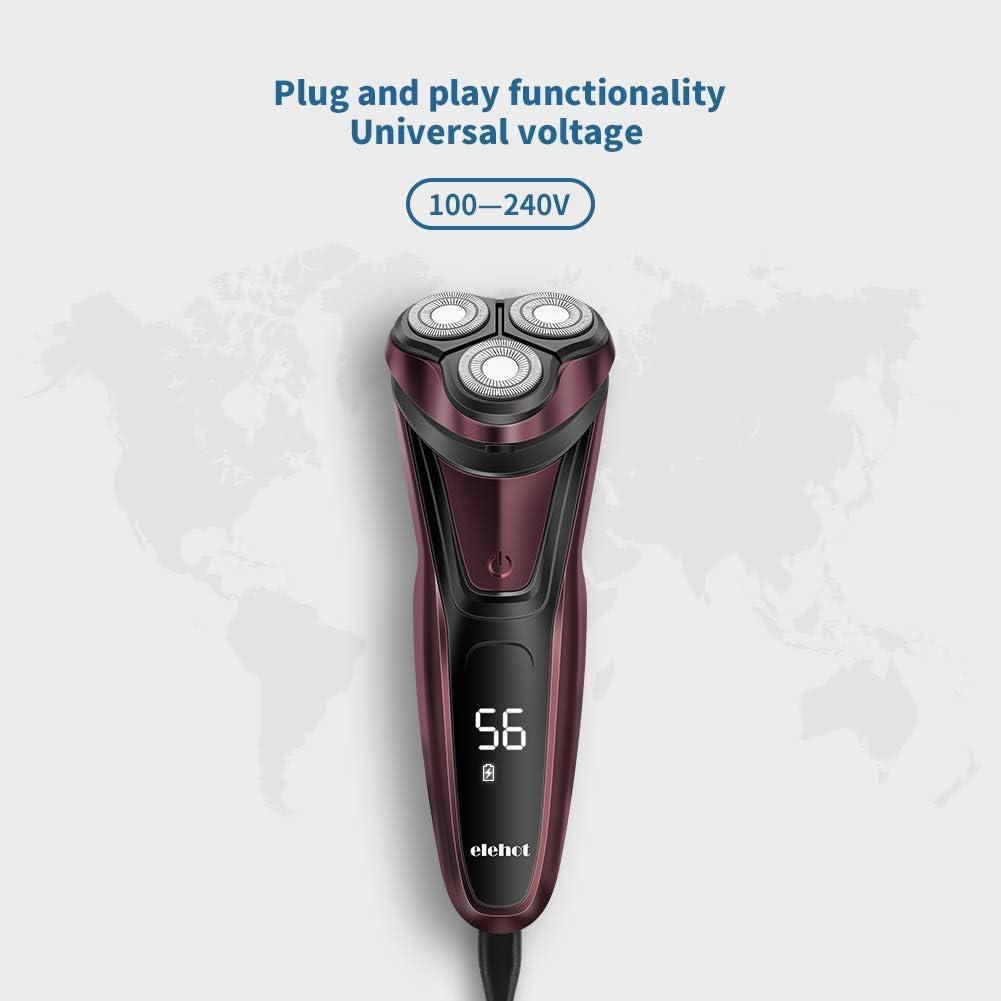 ELEHOT - Afeitadora eléctrica para hombre 3D con cabezales ...