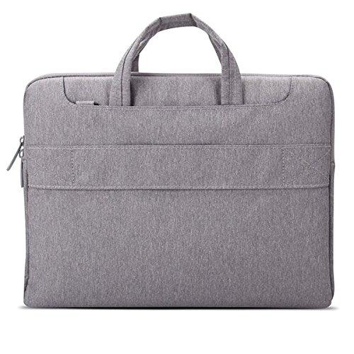 POFOKO Seattle 11,6 / 13 / 15,4 Zoll-Oxford-Gewebe Wasserdichtes GREY-Laptop-Tasche für Laptop Notebook