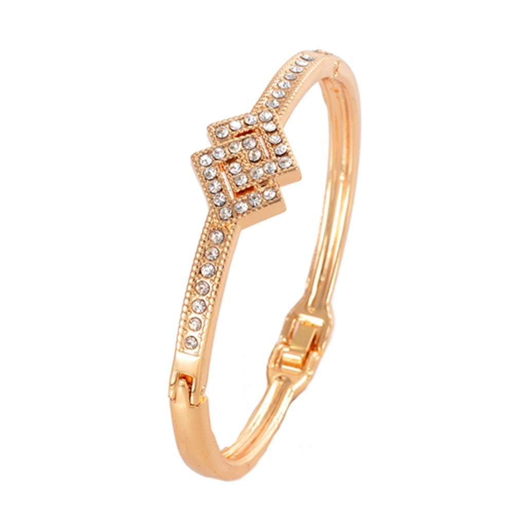 SONGBB Bracelet Shipping Fashion Golden Plated for Girls Crystal Bracelets Bangles Gift Jewelry