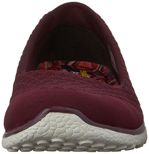 Skechers Microburst One Up Womens Slip sulle Skimmer Sneakers Borgogna