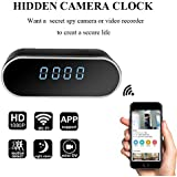 YCTONG Wifi Alarm Clock Hidden Spy Camera Night Vision/HD 1080P/Motion Detection Surveillance Security Cam for Home Office Nanny Pet