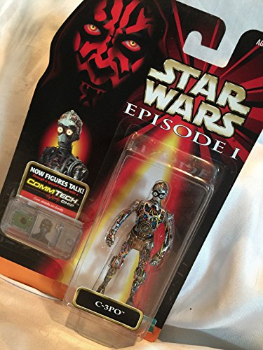 - Qiyun 1998 Star Wars Action Figure C 3PO with Comm Tech Chip Collection 1 Episode 1 076281841069