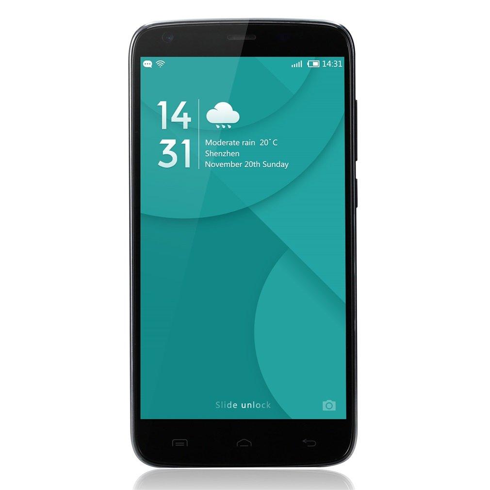 LESHP DOOGEE T6 Pro - Smartphone Android 6.0, 4G LTE Teléfono Móvil con batería 6250mAh - Cámara de 13MP + 5MP -Dual SIM - Pantalla HD de 5.5 pulgadas IPS HD 1280*720px- MT6753 Octa Core 1.5GHZ - OTG & OTA - 3GB RAM 32GB - Dual SIM-Free-Negro