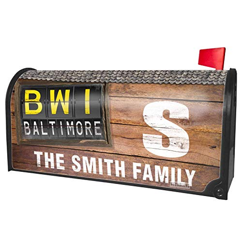 NEONBLOND Custom Mailbox Cover BWI Airport Code for Baltimore ()