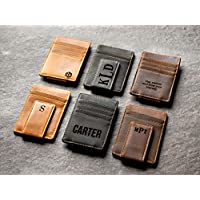 Personalized Leather Money Clip by Left Coast Original