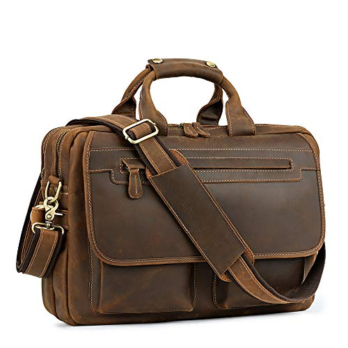 Kattee Men's Leather Durable Briefcase