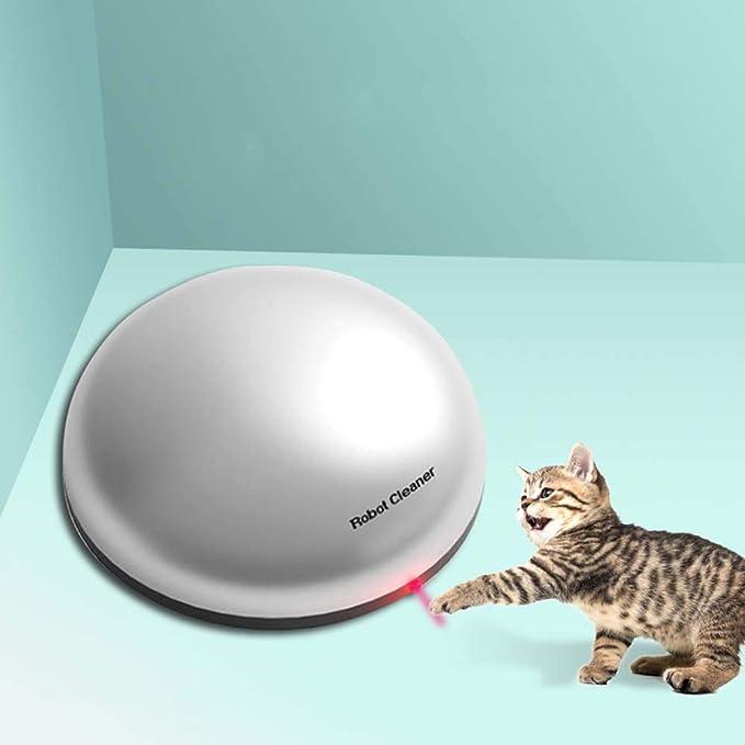 FXQIN Robot de Barrido Divertido Gato 2 en 1 para Gatos, aspiradora Robot para Pelo de Mascotas en casa, aspiradora Robot de Gato para Pelo de Mascotas, Piso Duro, Alfombra: Amazon.es: Productos