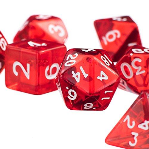 7pcs Roten D4 D6 D8 D10 D12 D20 Würfel-Set Für Dungeons And Dragons Spiel - rot