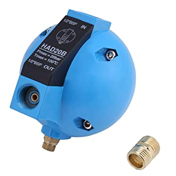 Válvula de flotador de agua, válvula de drenaje de flotador redonda mecánica de condensado automático HAD20B 1 / 2BSP 400L / H 20Bar: Amazon.es: Bricolaje y ...