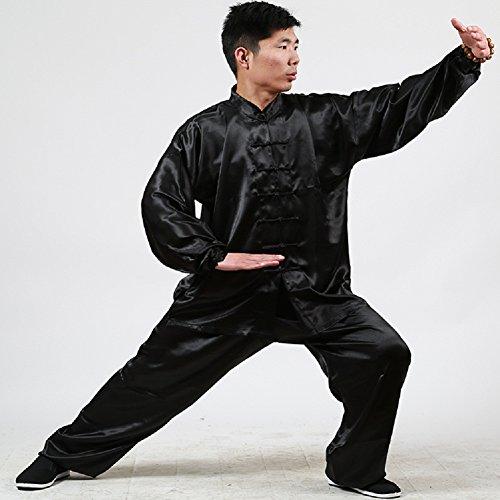 Kung Fu Taichi Shaolin Kung Fu Uniform (Black, Height:71-73in)