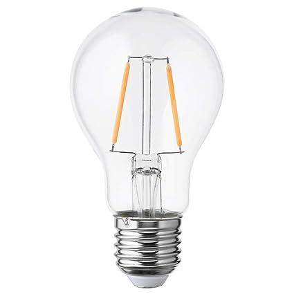 IKEA 203.821.83 Lunnoma - Bombilla LED (E26, 100 lúmenes, cristal transparente