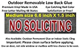 3 Pack Premium and Best reviewed NO SOLICITING sticker decal, outdoor removable low back glue (not static). This no soliciting sign is transparent with red color as a stop sign, and no more solicitors
