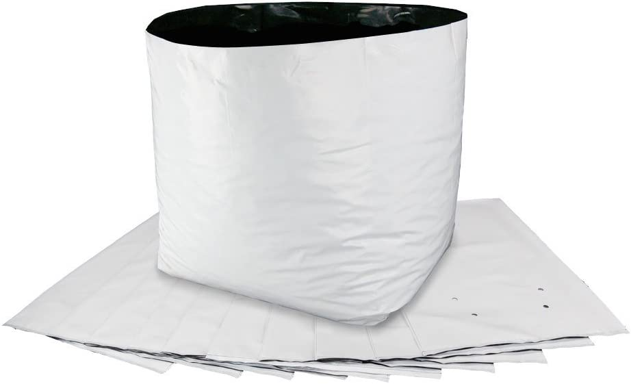 100-Pack HTGSupply 10-Gallon Poly Grow Bag Planters 100 Bags