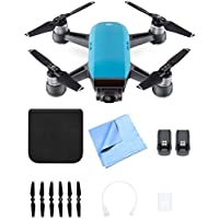 DJI CP.PT.000733 SPARK Intelligent Portable Mini Drone Sky Blue Battery Bundle
