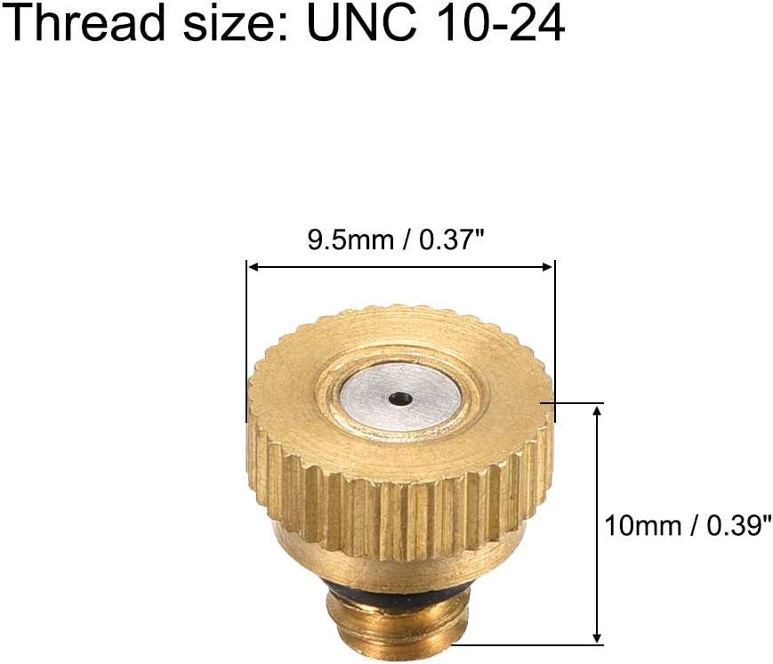 10//24 UNC Sourcingmap 5 pezzi Ugello per nebulizzazione in ottone