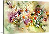 Neela Pushparaj Gallery-Wrapped Canvas entitled Dance of the Daisies