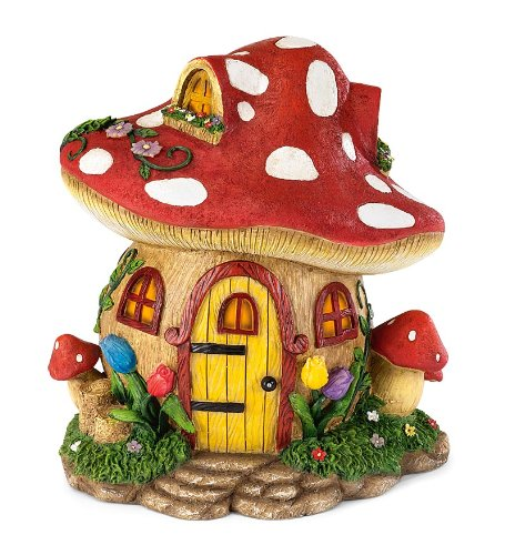 Fairy Village Houses, Resin - Hand-painted - 9''H - Set of 5 by HearthSong® (Image #4)