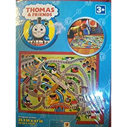 G.A. Gertmenian & Sons Thomas Train Puzzle Multi-Colored Kids Rug