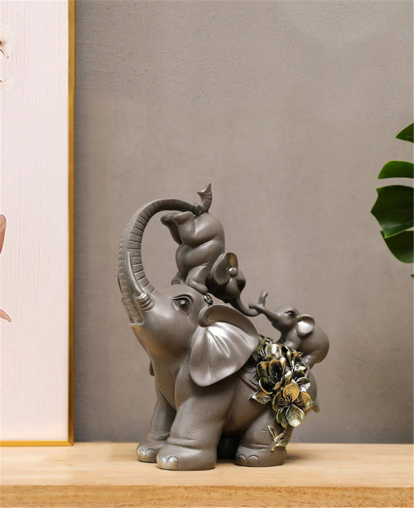 YOJDTD Decorations Decorations Restaurant Decorations Artwork Desktop Ornaments, Auspicious, Gray