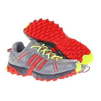adidas thrasher 2 m di scarpe da corsa, onyx / rosso (mens