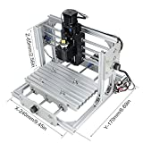 CNC DIY Router Wood Engraving Machine, 2417 GRBL Control Wood Carving Milling Engraving Machine USB Desktop Engraving Carving Machine(Working area 24x17x6.5cm, 3 Axis, 110V-240V)