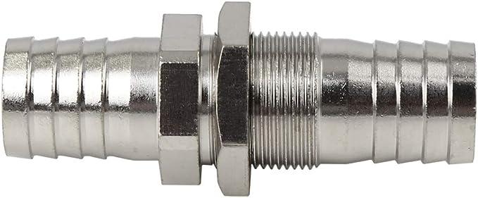 X AUTOHAUX 3//8 NPT 16mm Male Thread Fitting Barb Hose Tail Connector Zinc Plated 3pcs