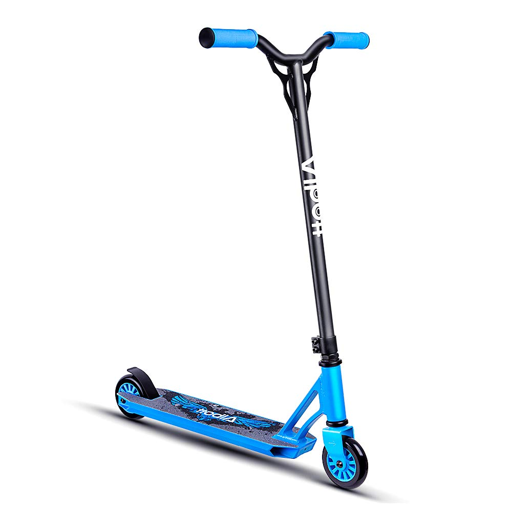 Albott ProScooters - Sports Stunt Scooter Freestyle Entry Level Kick Scooter with Hollow Neck Reinforced Deck 360° Rotation Trick Scooter for Age 5+ Kids,Boys,Girls,Children,Adults