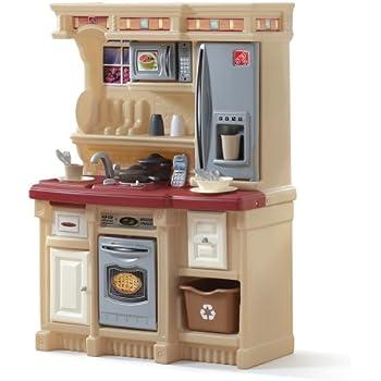 Step2 LifeStyle Custom Kitchen | Plastic Play Kitchen & Toy Accessories Set  | Red Kids Kitchen Playset