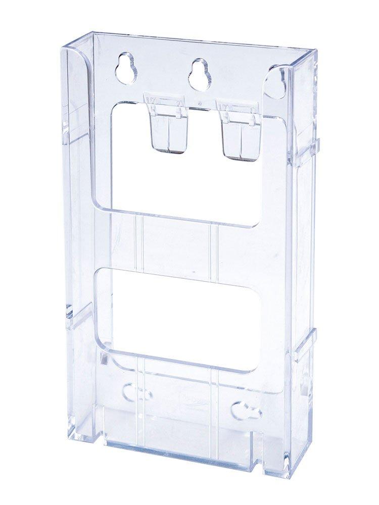 Portabrochure componibile Lit-Loc Deflecto - Portabrochure - 1/3 A4 verticale - 11, 3x6x20 cm - DE771901 165008