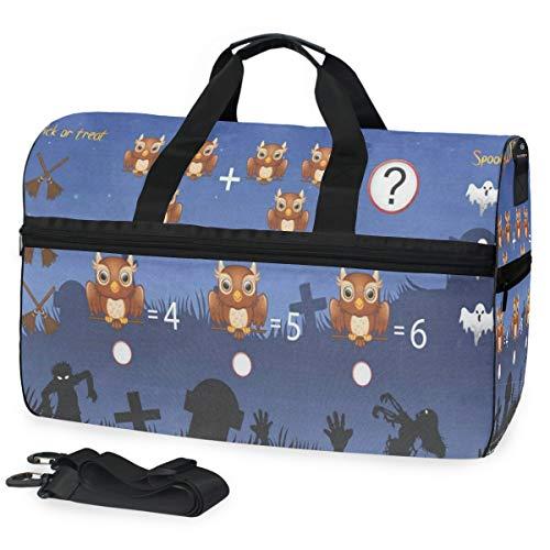 Gym Bag Game Count The Owl In Halloween Sport Duffle Holdall Bag Training Handbag Yoga bag for Men Women