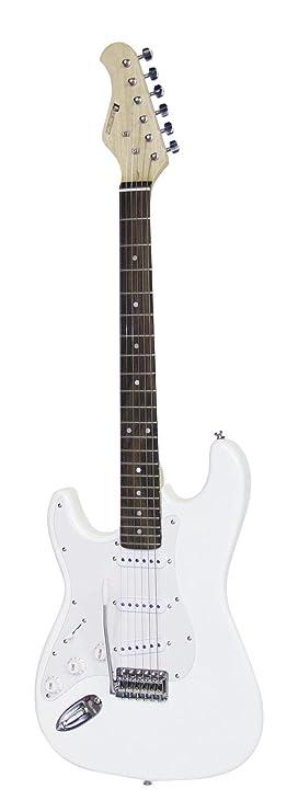 Set 2 x Guitarra eléctrica PATRON para zurdos con accesorios, blanco - 2 unidades de Guitarra para principiantes / Instrumento de cuerda - klangbeisser: ...