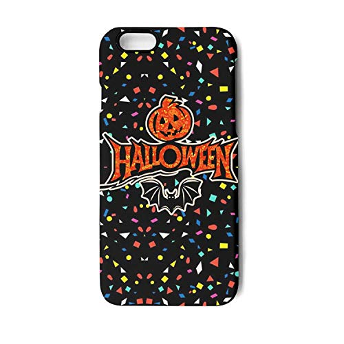 Vekq iPhone 7/8 Case Happy Halloween Bat Pumpkin Art Shock Absorption Soft TPU Protective Back Cover Compatible with iPhone 7/8 ()