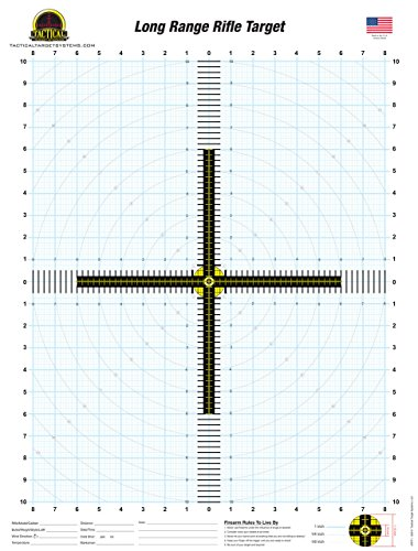 Tactical Target Systems LLC | Long Range Rifle Target (25 Pack) 19