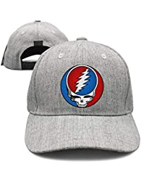 f70bc1997b0 Mens Woman Adjustable Trucker Hat Grateful-Style-Dead-Symbol-Steal-