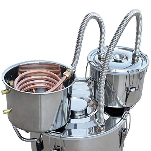 Vanell 8 Gal Home Distiller Moonshine Still Brewing Distiller Stainless Steel Water Wine Alcohol Distiller Distilling Equipment Copper Tube Boiler Home DIY Brewing Kit With Condender Keg NO Valve by Vanell (Image #3)