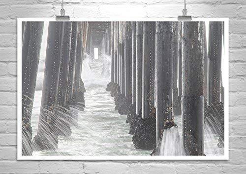 Oceanside Pier Art Print, Under Pier Photograph, San Diego California Art Gift