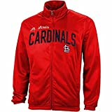 : G-III Sports St. Louis Cardinals Red Walk of Poly Tricot Track Jacket