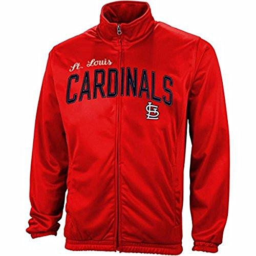 G-III Sports ST. Louis Cardinals Red Walk Of Poly Tricot Track Jacket Louis Jacket