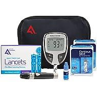 Contour NEXT EZ Diabetes Testing Kit | Contour NEXT EZ Blood Glucose Meter, 100 Contour NEXT Blood Glucose Test Strips, 100 Lancets, Lancing Device, Control Solution, Log Book, User Manuals and Pouch