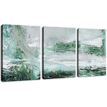 Blue Hand Embellished Painting Modern Abstract Home D/écor Canvas Living Room Accent MADISON PARK SIGNATURE Morning Fields Wall Art