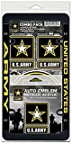 US Army Auto Combo Pack: 1 License Frame, 3 Static Cling Decals, and 1 Auto Emblem