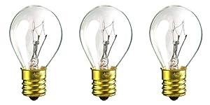 CEC Industries #40S-11 N 120V Bulbs, 120 V, 40 W, E17 Base, S-11 shape (3-pack)